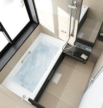 在来浴室からユニットバスに変更するパターン。